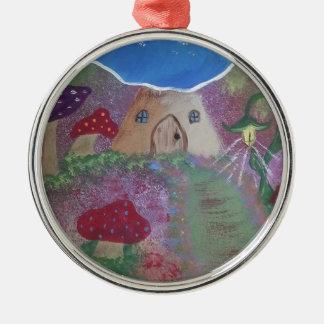 Toadstool house.jpg adorno navideño redondo de metal