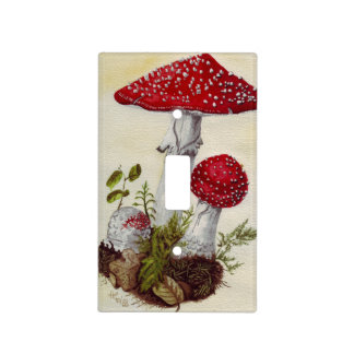 Toadstool Light Switch Covers