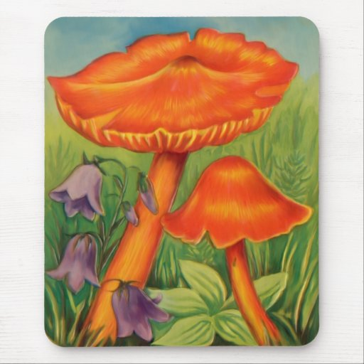 Toadstools 2 mouse pad