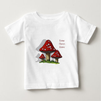 Toadstools: Art: Home Sweet Home Baby T-Shirt