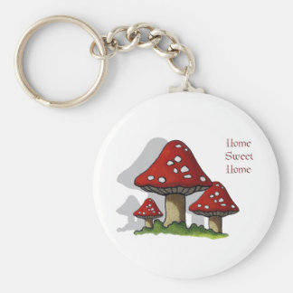 Toadstools: Art: Home Sweet Home Keychain