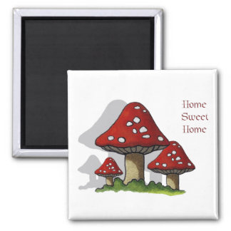 Toadstools Art Home Sweet Home Magnet