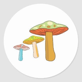 Toadstools Classic Round Sticker
