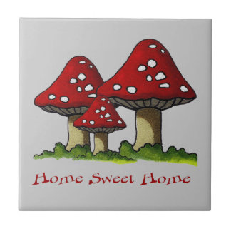 Toadstools: Home Sweet Home: Freehand Art Tiles