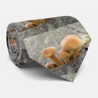 Toadstools on a Tree Trunk Tie
