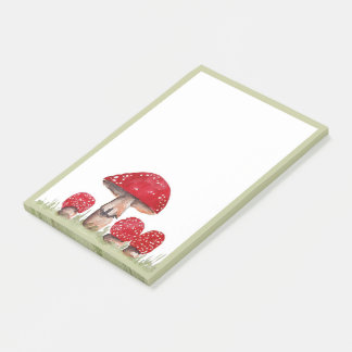 Toadstools Post-it Notes