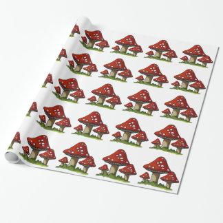 Toadstools rojos, setas: Arte original Papel De Regalo