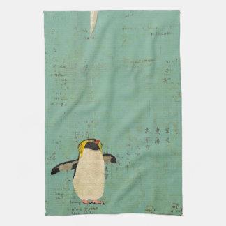 Toalla azul de la laguna del pingüino