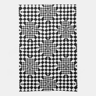 Toalla de cocina a cuadros de la ilusión