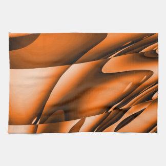 Toalla de cocina abstracta anaranjada quemada