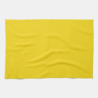 Toalla de cocina amarilla limón sólida