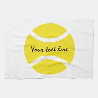 Toalla de cocina amarilla personalizada de la