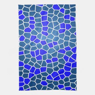 Toalla de cocina azul bonita del modelo de mosaico