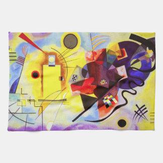 Toalla de cocina azul roja amarilla de Kandinsky