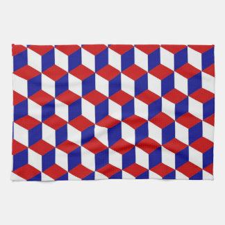 Toalla de cocina - bloquee la ilusión, blanco y