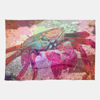 Toalla de cocina brillante del cangrejo