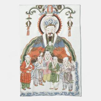 Toalla de cocina china de dios de la cocina de Zao