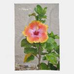 Toalla de cocina colorida de la flor del hibisco