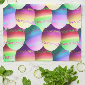Toalla de cocina colorida de los huevos de Pascua