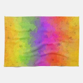 Toalla de cocina colorida del fractal de las piedr
