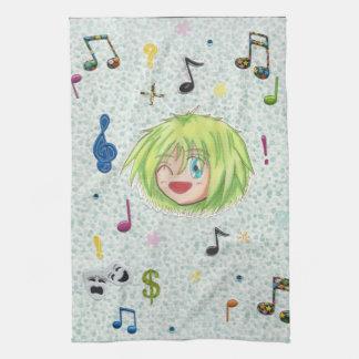 Toalla de cocina cómica de Izumi del collage del p
