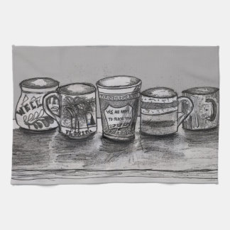 Toalla de cocina con arte de la taza de café