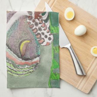 toalla de cocina con diseño