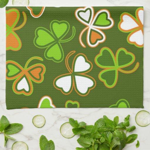 Toalla de cocina con el día de St Patrick inconsút