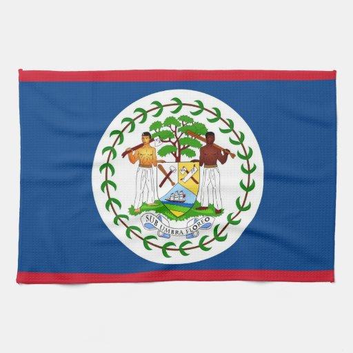 Toalla de cocina con la bandera de Belice