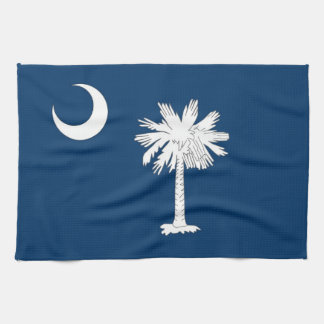 Toalla de cocina con la bandera de Carolina del Su