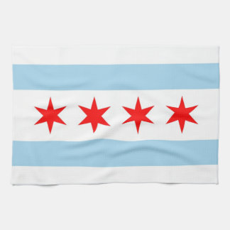 Toalla de cocina con la bandera de Chicago, Illino