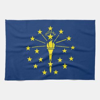 Toalla de cocina con la bandera de Indiana, los E.