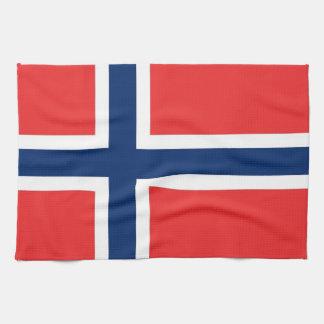 Toalla de cocina con la bandera de Noruega