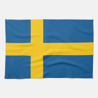 Toalla de cocina con la bandera de Suecia