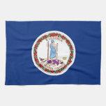 Toalla de cocina con la bandera de Virginia, los E