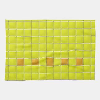 Toalla de cocina - cuadrados del mosaico en
