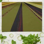 Toalla de cocina de desaparición verde oliva del p