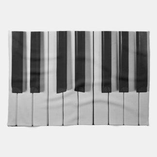 Toalla de cocina de encargo del teclado de piano