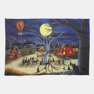 "Toalla de cocina de Halloween ""Hauntoberfest """