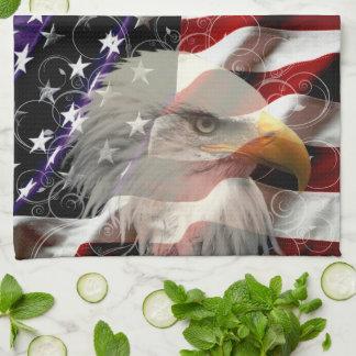 Toalla de cocina de la bandera de American Eagle
