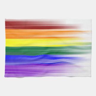 Toalla de cocina de la bandera del arco iris