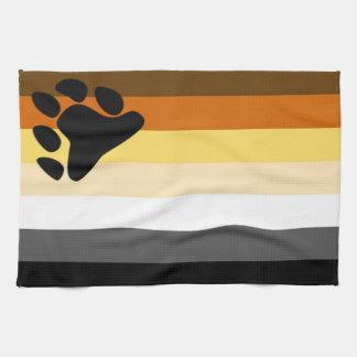 Toalla de cocina de la bandera del orgullo del oso