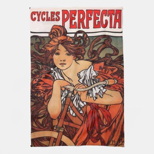 Toalla de cocina de la bicicleta del vintage de Al