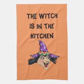Toalla de cocina de la bruja