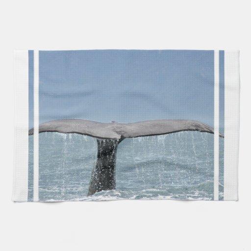 Toalla de cocina de la cola de la ballena