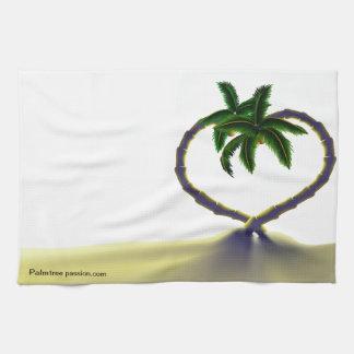 Toalla de cocina de la palmera