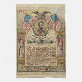 Toalla de cocina de la proclamación de la emancipa