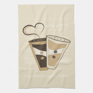 Toalla de cocina de la taza de café
