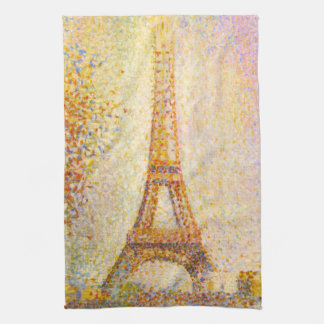 Toalla de cocina de la torre Eiffel de Seurat