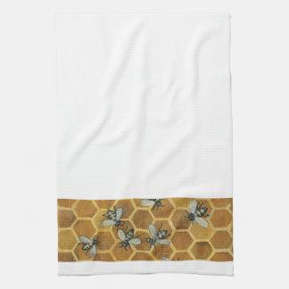 Toalla de cocina de las abejas de la miel